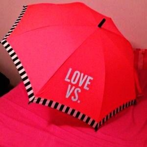 PINK VICTORIAS SECRET UMBRELLA